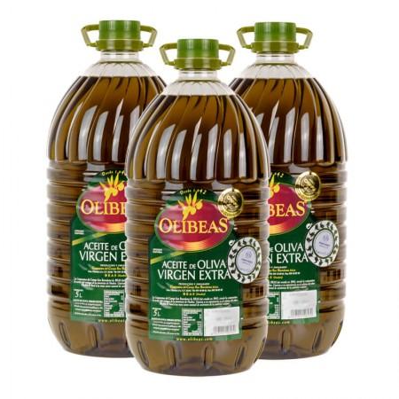 3 x 5 Litres Extra Virgin Olive Oil plastic bottles